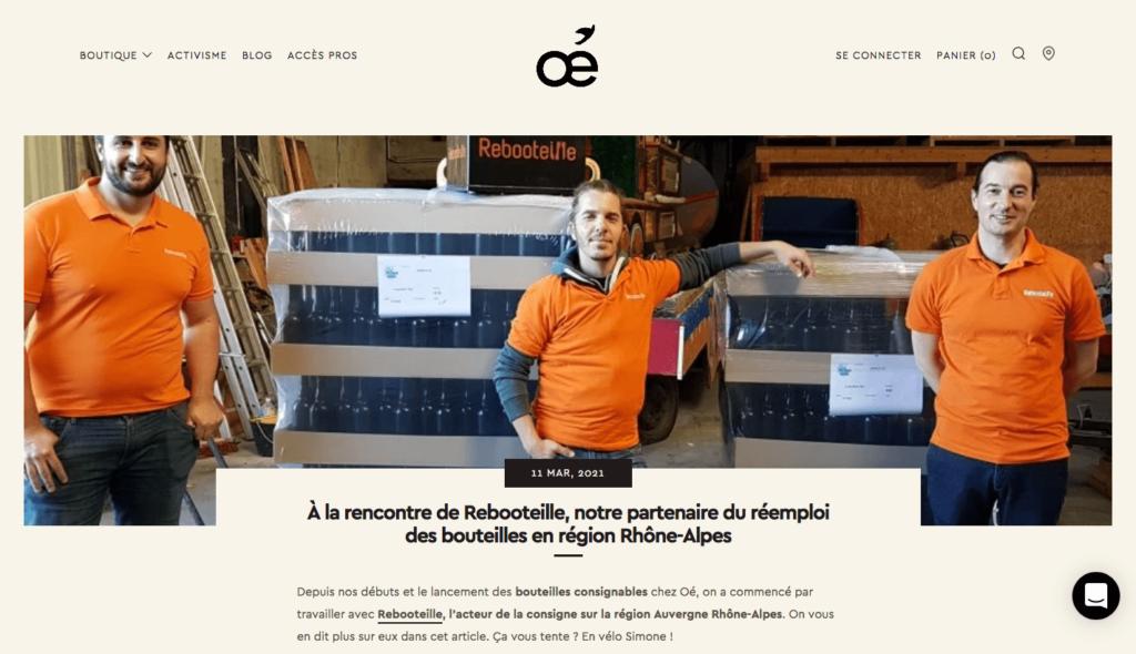 Article partenaire Oé - Réemploi bouteilles Page 1