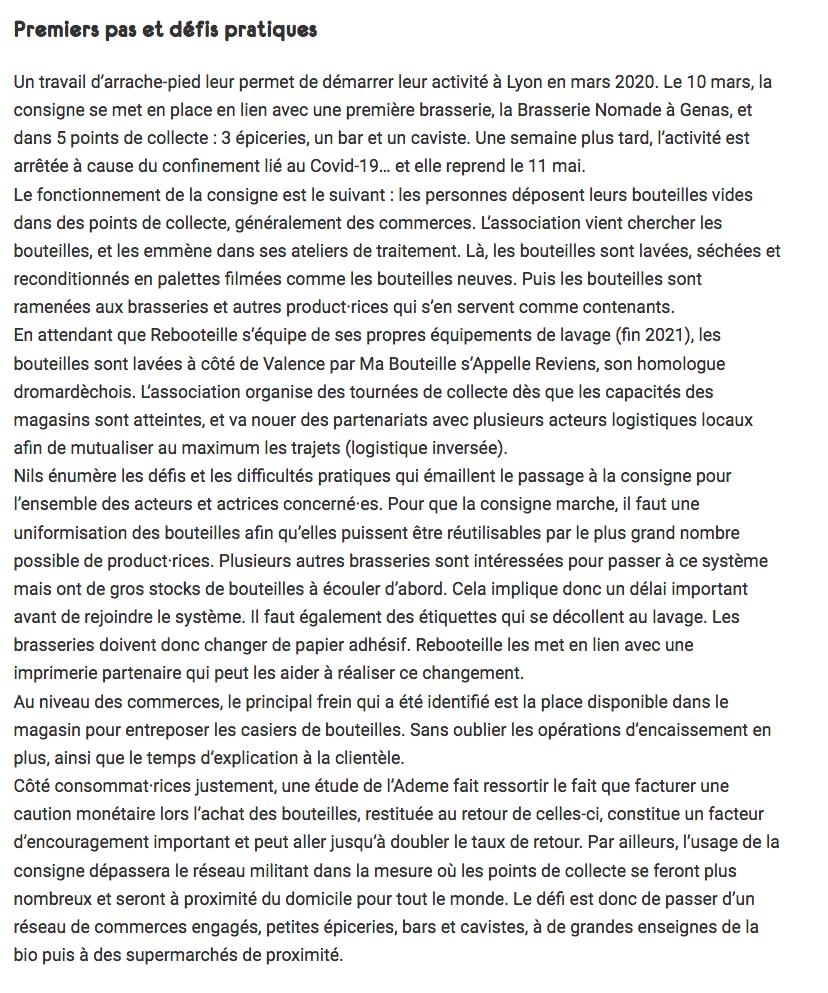 Article Rebooteille de Revue Silence - Page 3