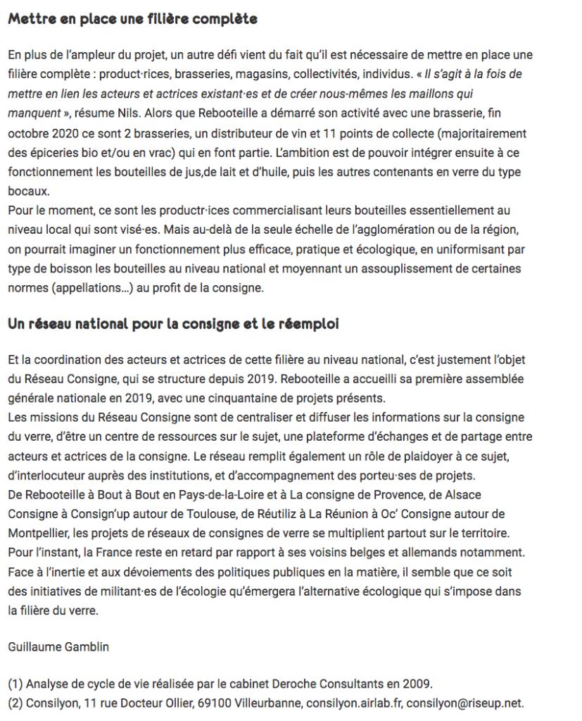 Article Rebooteille de Revue Silence - Page 4